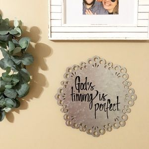 Other - God's Timing is Perfect galvanized metal sign